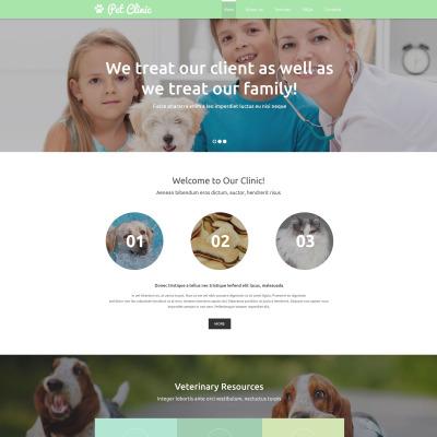 Responsive Website Vorlage für Tierarzt