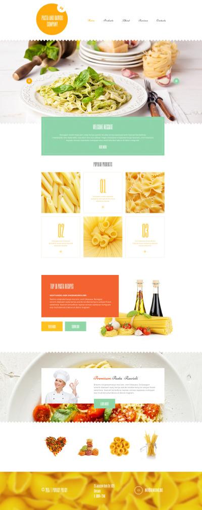 Responsywny motyw WordPress #55187 na temat: restauracja włoska