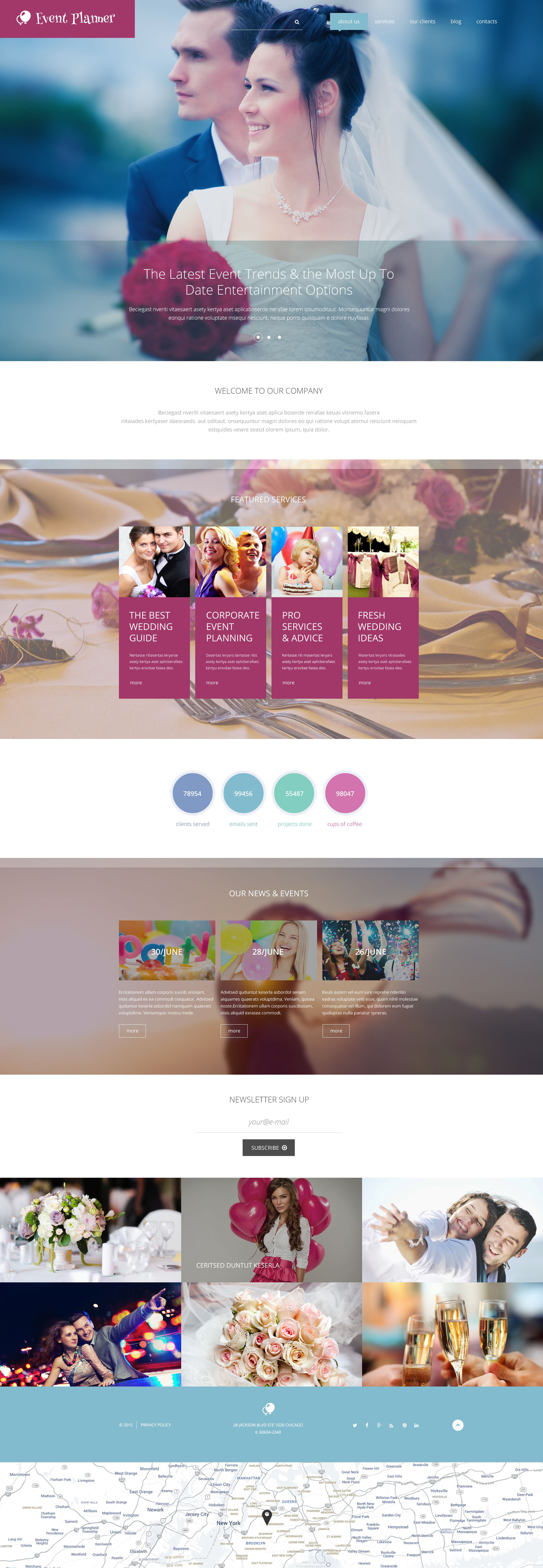 Responsywny szablon Drupal Event Planner #55160 - zrzut ekranu