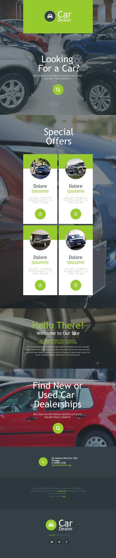 Car Dealer Responsive Newsletter šablona