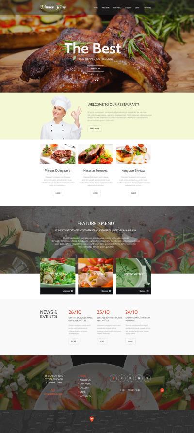Cafe and Restaurant Responsive Šablona Webových Stránek
