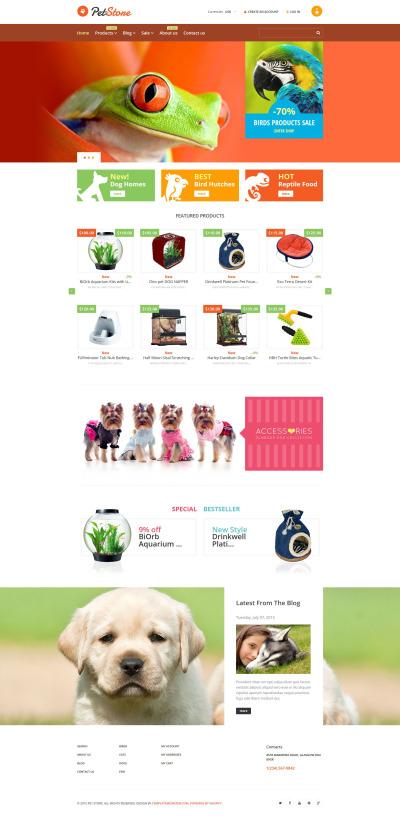 Pet Shop Responsive Shopify Motiv