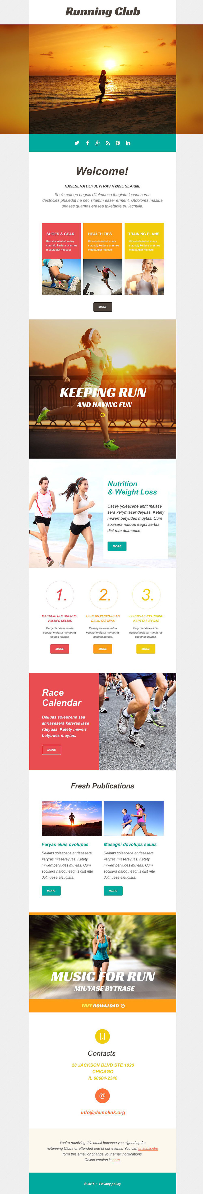 Running Responsive Newsletter Template New Screenshots BIG