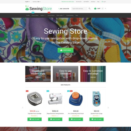 Sewing Store - Magento Template based on Bootstrap