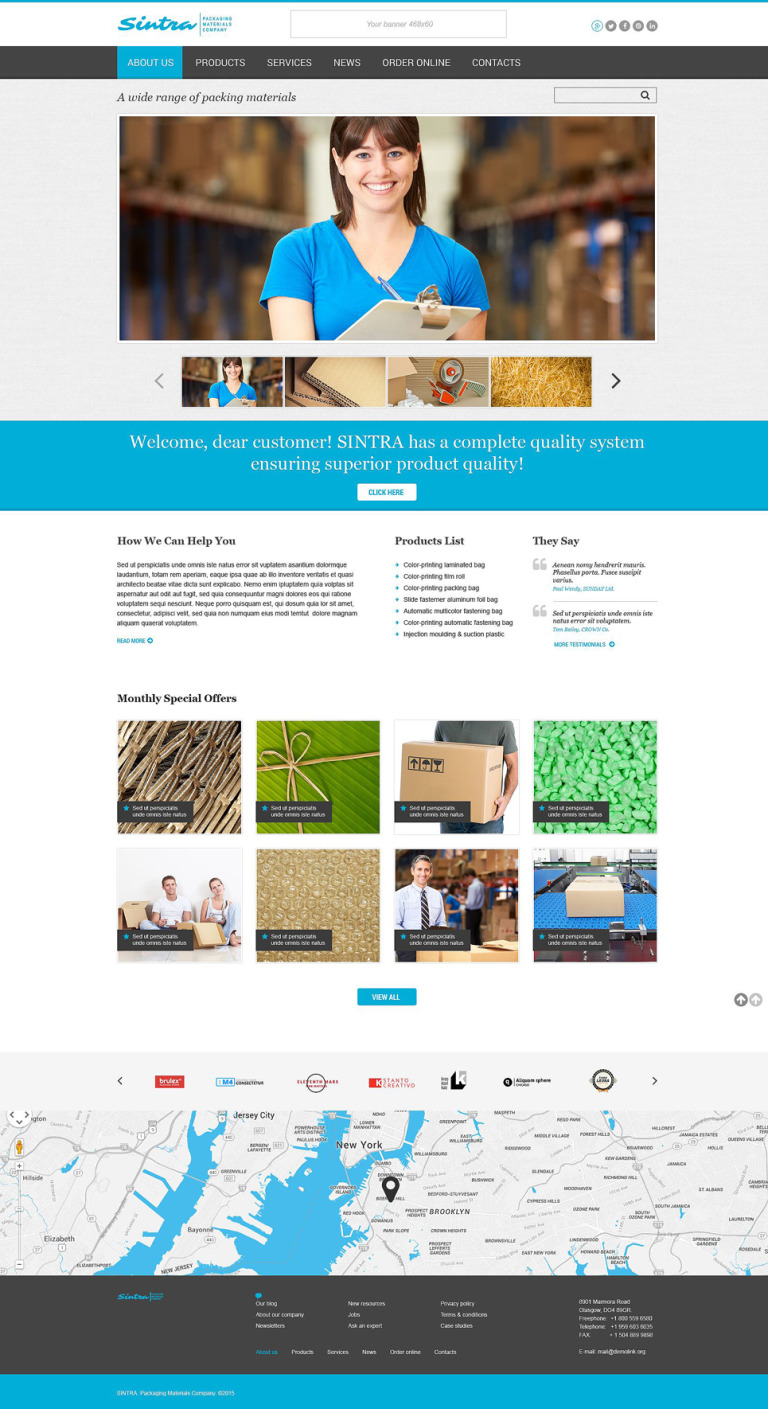 Sintra Website Template New Screenshots BIG