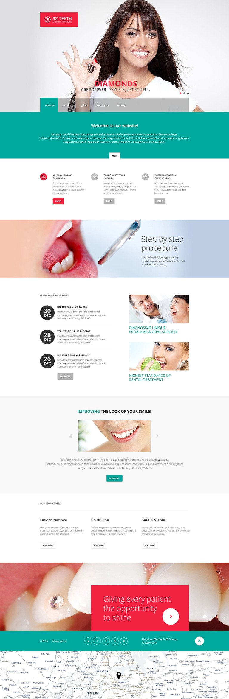 Skyce Dentistry Website Template New Screenshots BIG