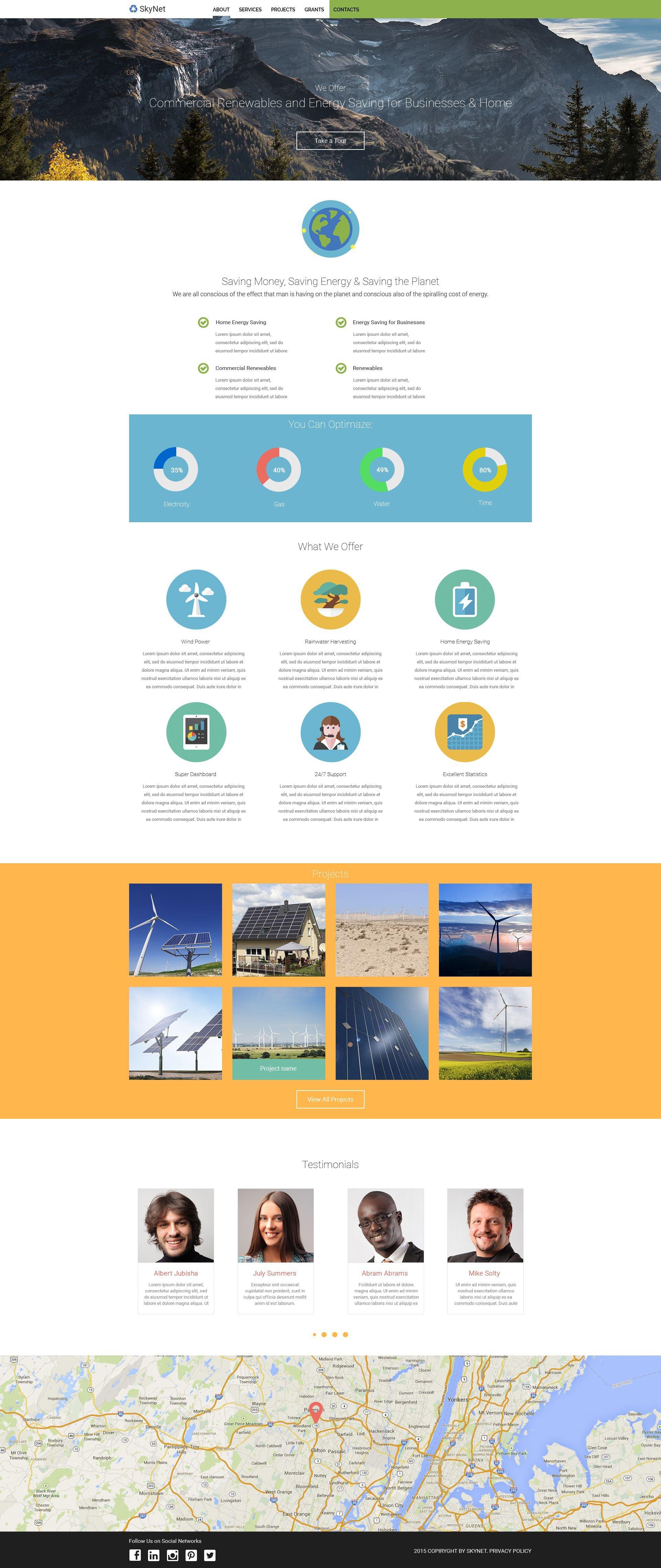 SkyNet Website Template - screenshot