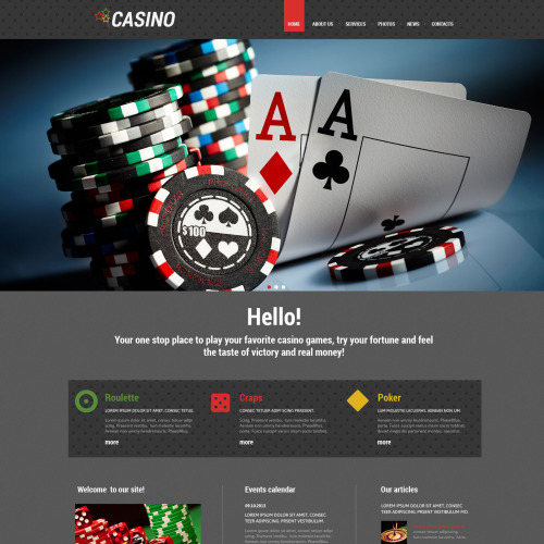 Casino - WordPress Template based on Bootstrap