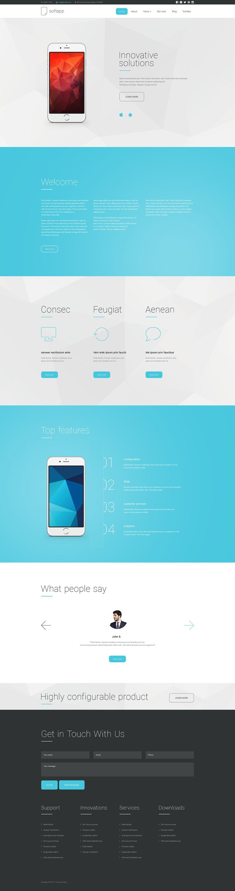Softapp Drupal Template New Screenshots BIG