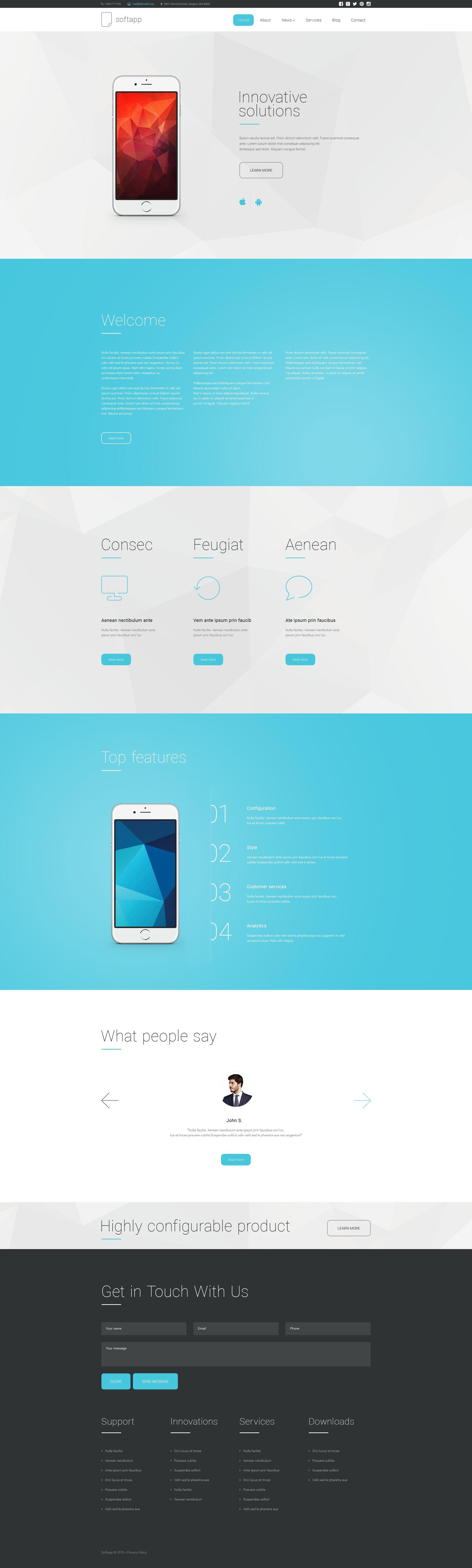 Softapp Drupal Template - screenshot