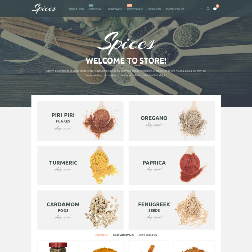 Spices - PrestaShop Template based on Bootstrap