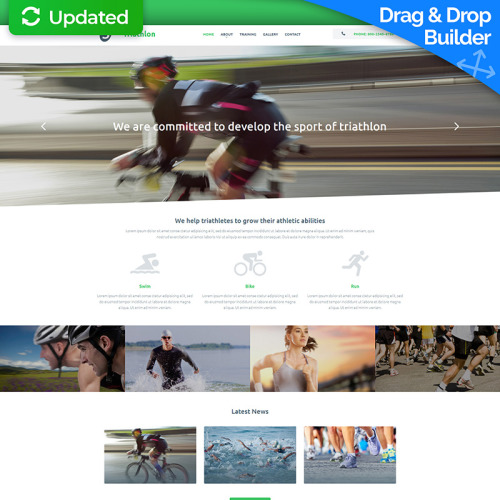 Triathlon  - MotoCMS 3 Template based on Bootstrap