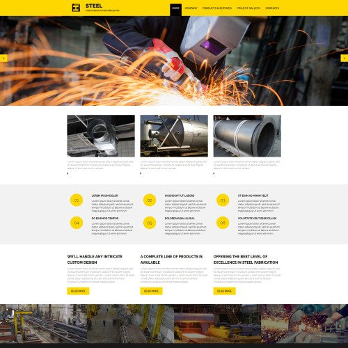 Steel - Manufacturing Company Template