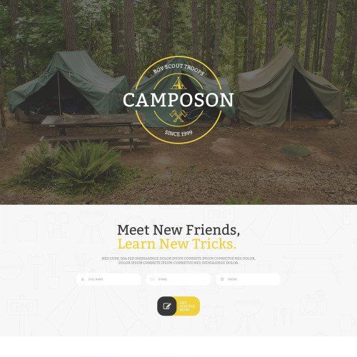 Camposon - Responsive Landing Page Template