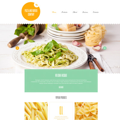 Tema de WordPress #55187 para Sitio de Restaurantes italianos