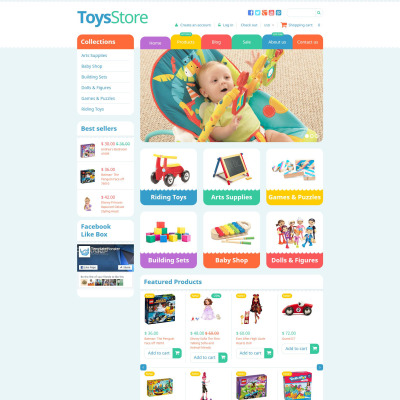 Toy Store Templates TemplateMonster - Simple invoice format in word online toy stores