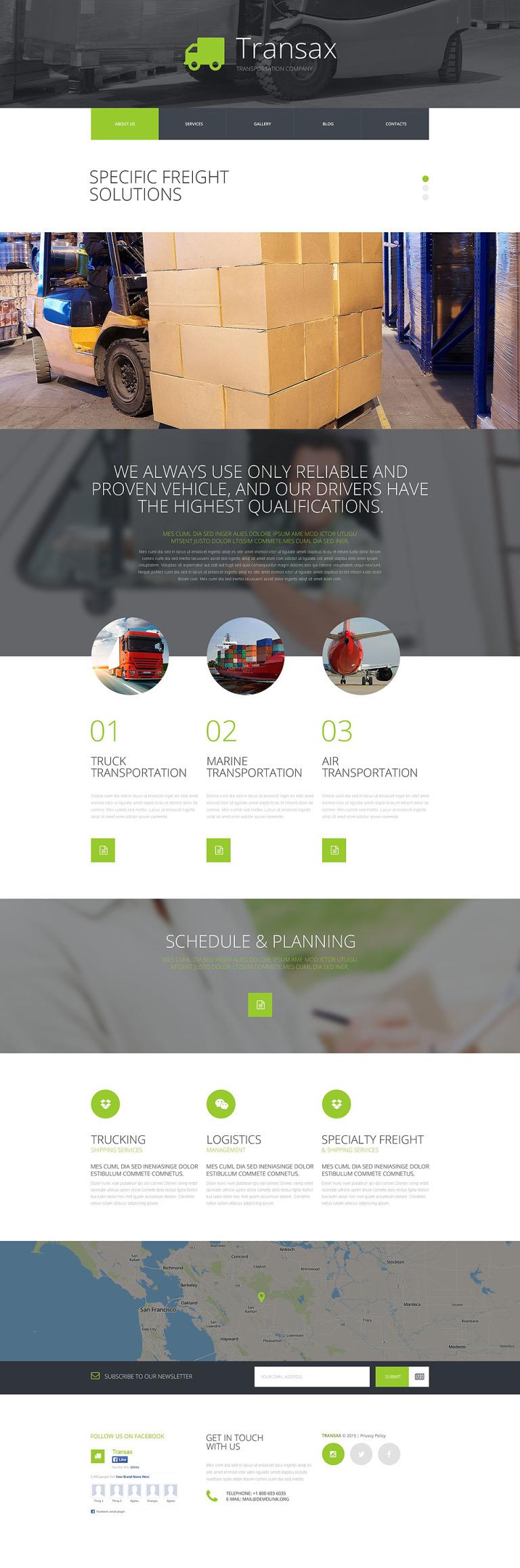 Transax Joomla Template New Screenshots BIG