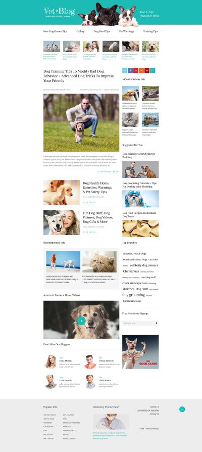 Veterinarian Blog Website Template