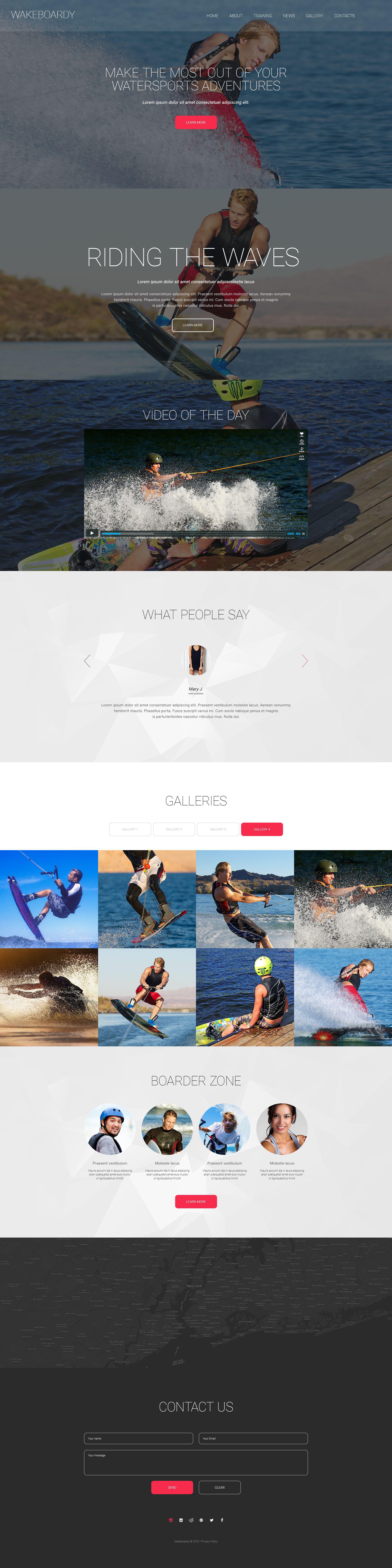 """Wakeboardy"" Responsive Website template №55105"