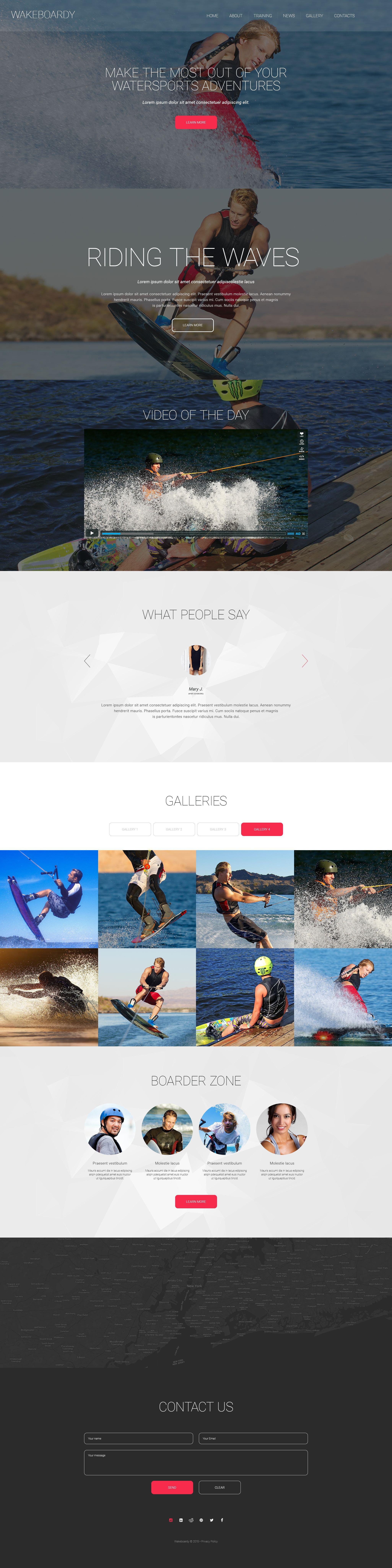 Wakeboardy Website Template - screenshot
