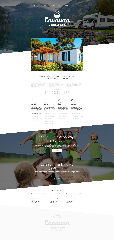 """Website Vorlage namens """"Leisure Park"""" #55106 - Screenshot"""