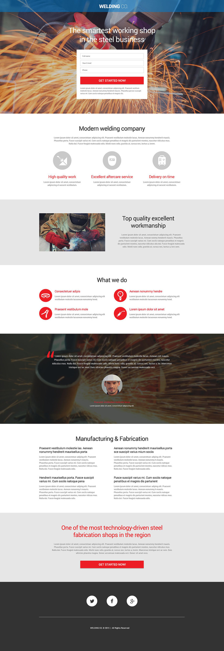 Welding Responsive Landing Page Template New Screenshots BIG