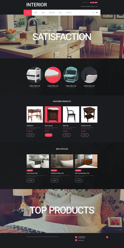 "WooCommerce Theme namens ""Innendesign "" #55175"