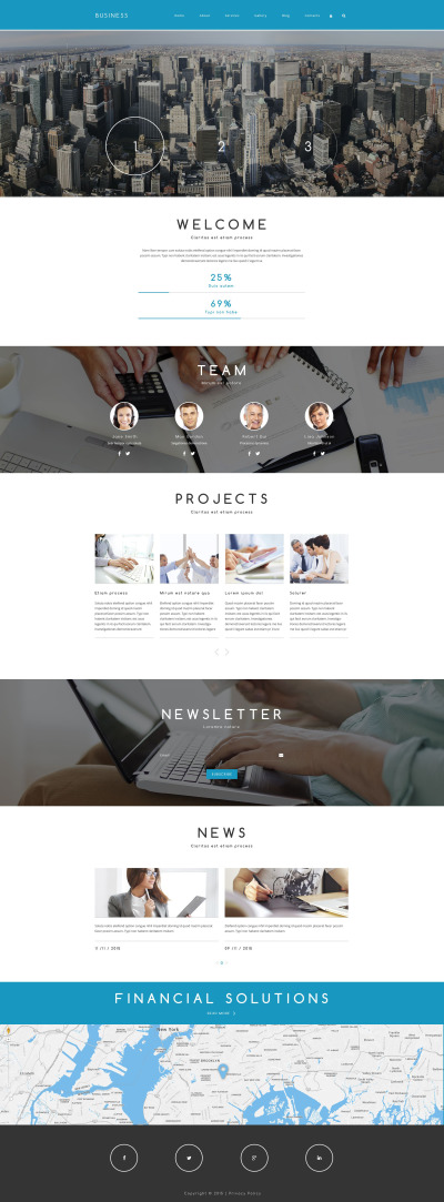 Företag & tjänster Responsivt Drupal-mall