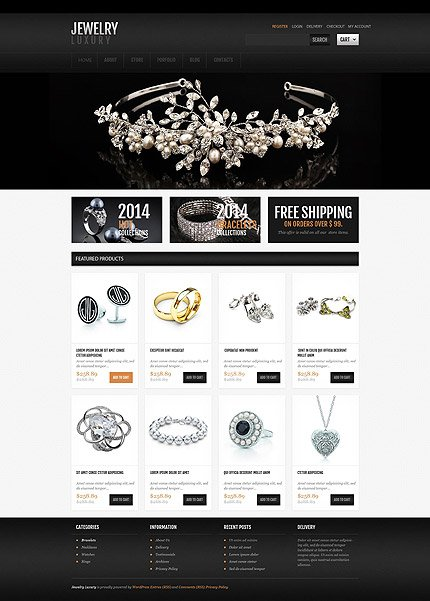 osCommerce Template 55205 Main Page Screenshot