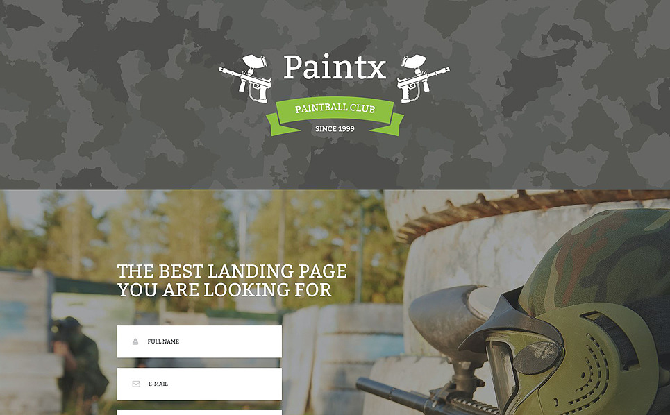 Responsive Paintball  Açılış Sayfası Şablonu New Screenshots BIG