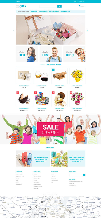 ADOBE Photoshop Template 55209 Home Page Screenshot