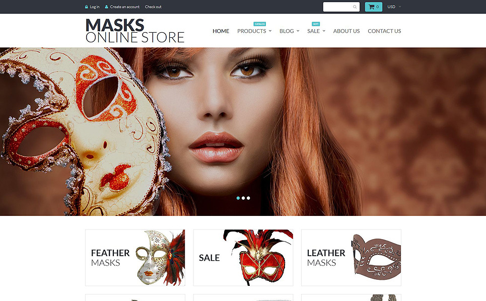 Modello Shopify Responsive #55214 per Un Sito di Intrattenimento New Screenshots BIG