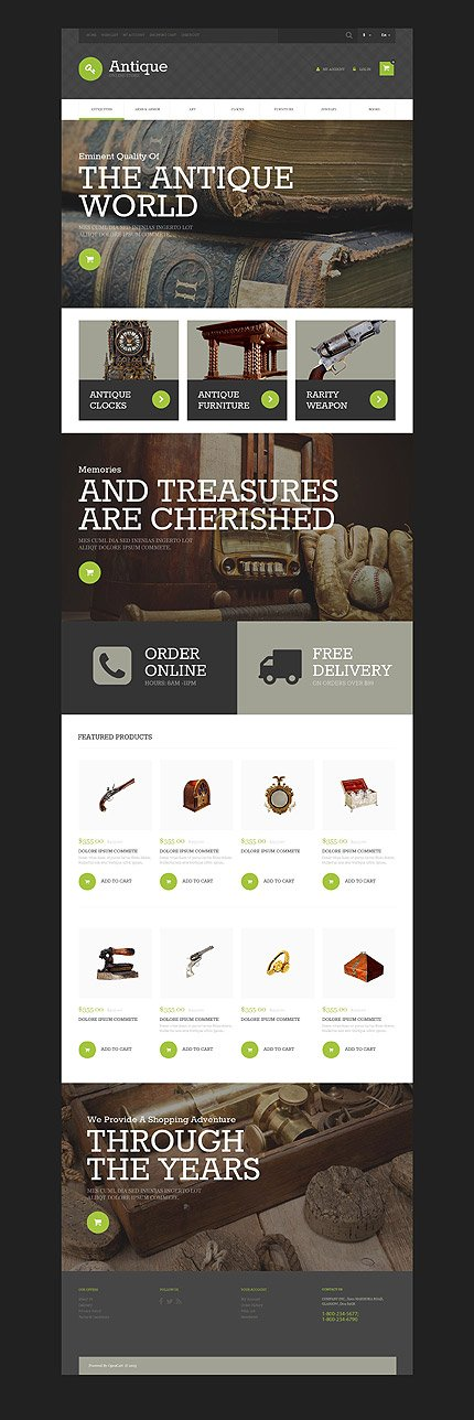 osCommerce Template 55216 Main Page Screenshot