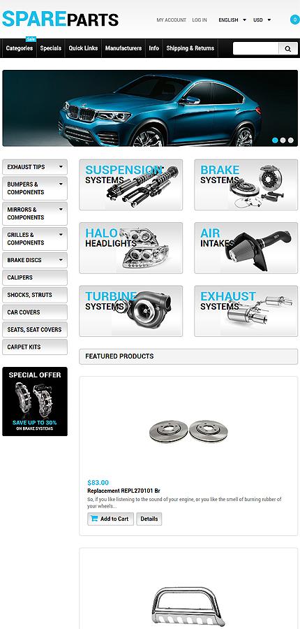 ZenCart Template 55219 Main Page Screenshot