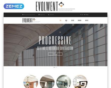 Evolwent - Interior Design Responsive Modern HTML Website Template