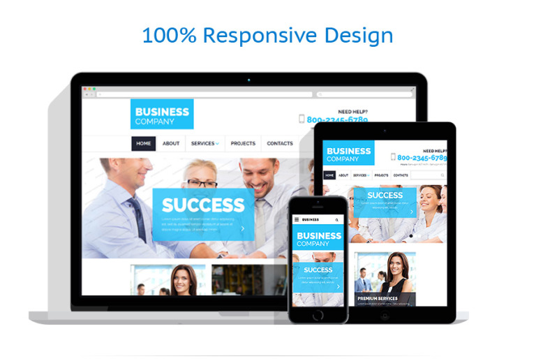 Free business responsive template website template 55227 this free sample can bring your projects to focus by means of a full width slider and elegant banners fully responsive design will make this product your flashek