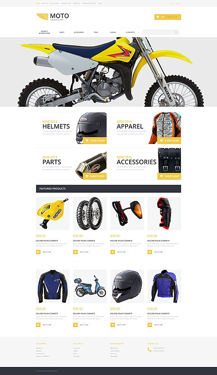 osCommerce Template 55228 Main Page Screenshot