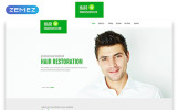Responsivt Hair Transplantation - Medical Clinic Clean Responsive HTML5 Hemsidemall