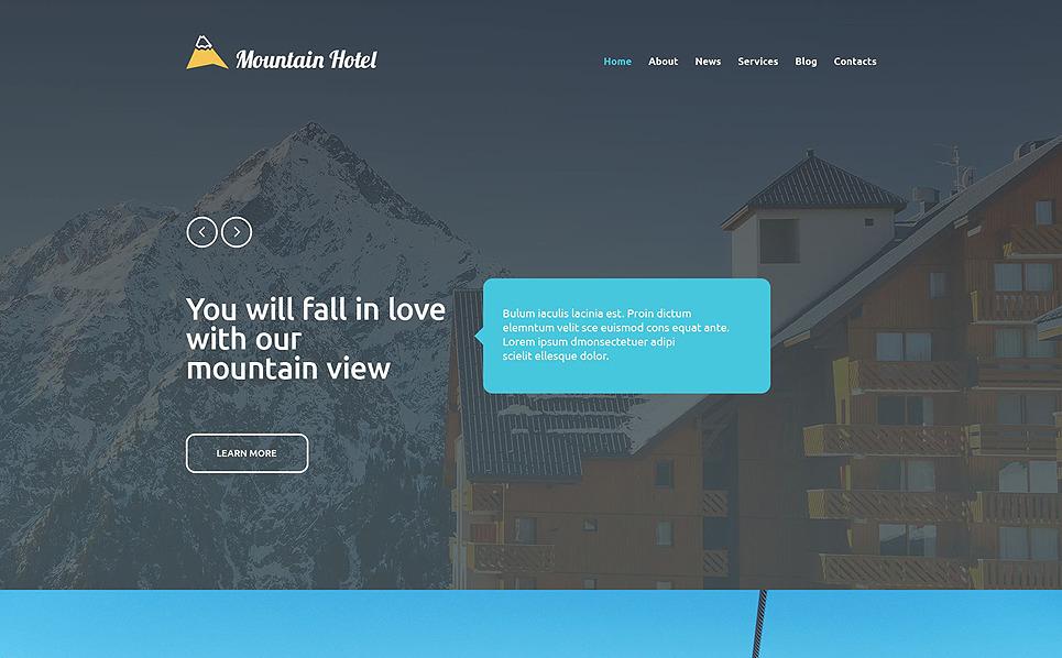 Responsive Website template over Hotels  New Screenshots BIG