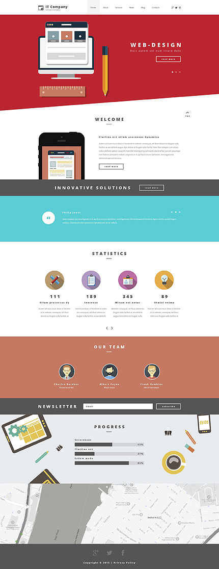 WordPress Theme/Template 55252 Main Page Screenshot