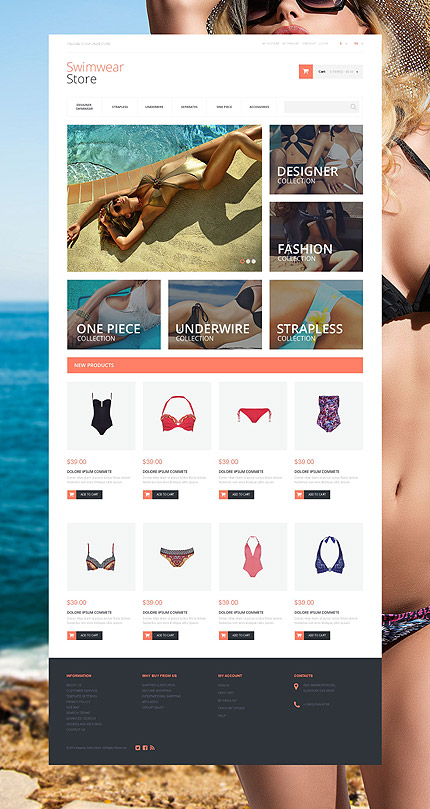 Magento Theme/Template 55259 Main Page Screenshot