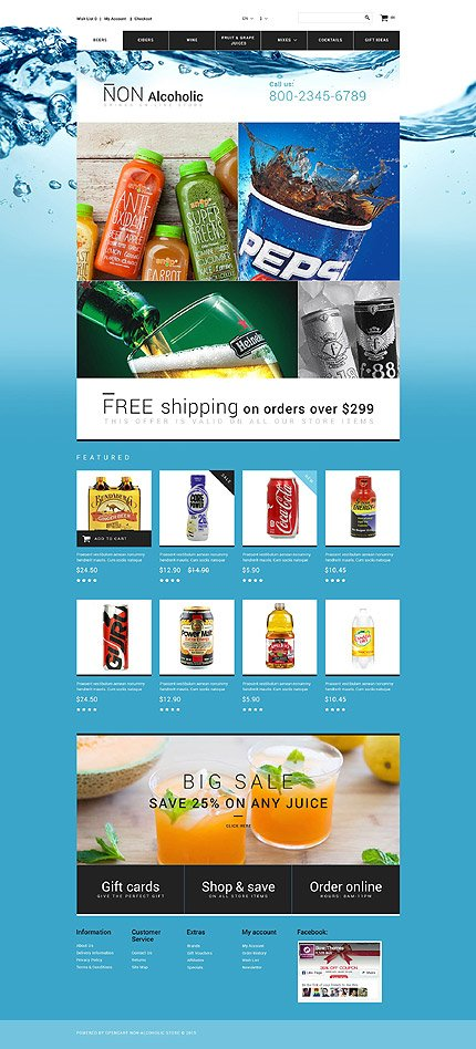 ADOBE Photoshop Template 55261 Home Page Screenshot