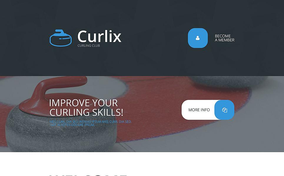 Responsive Landingspagina Template over Curling  New Screenshots BIG