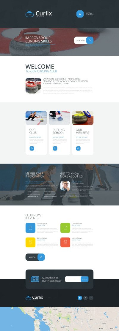 Curling Responsivt Landing Page-mall