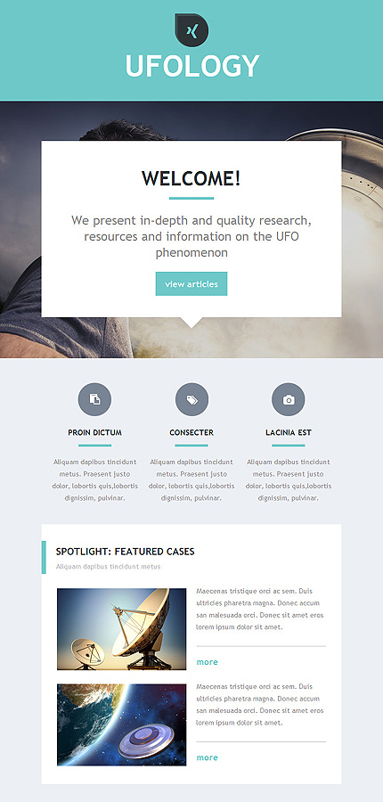 Science Newsletter Template Website Templates