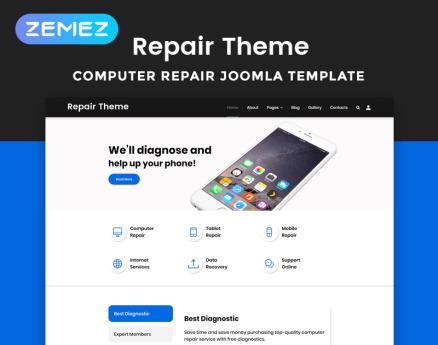 Repair Theme - Computer Repair Multipage Clean Joomla Template