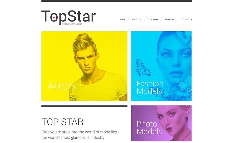 Reszponzív Modell ügynökségek Weboldal sablon New Screenshots BIG