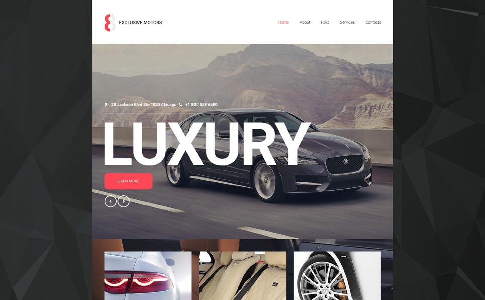 Responsywny szablon strony www #55282 na temat: klub motoryzacyjny New Screenshots BIG