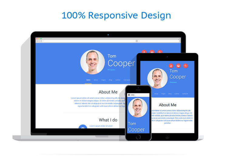 Personal Profile Joomla Template – Profile Templates