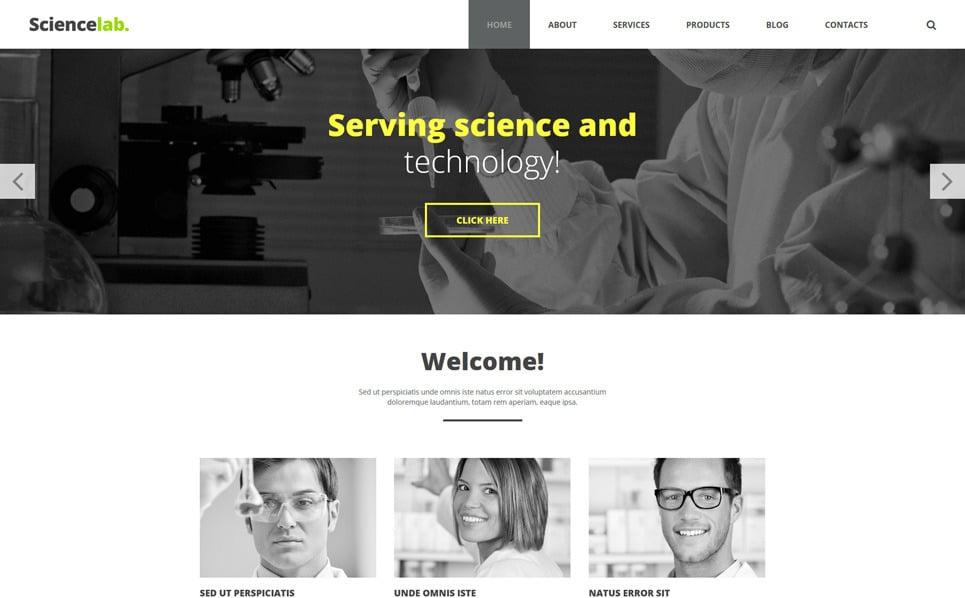 Responsive Bilim Laboratuvarı  Joomla Şablonu New Screenshots BIG
